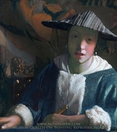 Girl with a Flute painting reproduction, Jan Vermeer