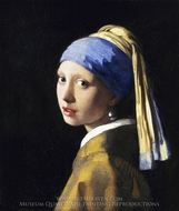 Girl with a Pearl Earring painting reproduction, Jan Vermeer