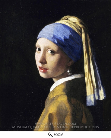 Painting Reproduction of Girl with a Pearl Earring, Jan Vermeer