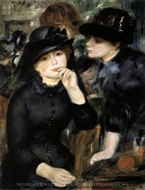 Girls in Black painting reproduction, Pierre-Auguste Renoir