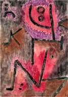 Gluht Nach painting reproduction, Paul Klee