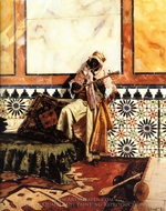 Gnaoua in a North African Interior painting reproduction, Rudolph Ernst
