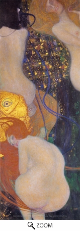 Painting Reproduction of Gold Fish, Gustav Klimt
