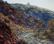 Gorge of the Petite Creuse painting reproduction, Claude Monet