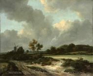 Grainfields painting reproduction, Jacob Van Ruisdael