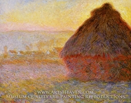 Grainstack at Sunset by Claude Monet