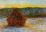 Grainstack, Thaw, Sunset by Claude Monet