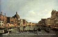 Grand Canal: Looking South-West from the Chiesa degli Scalzi to the Fondamentta della Croce, with S. Simeone Piccolo by Canaletto
