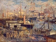 Grand Qual at Le Havre painting reproduction, Claude Monet