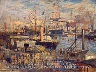 Grand Qual at Le Havre by Claude Monet