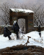 Graveyard under Snow by Caspar David Friedrich