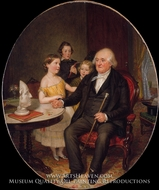 Great-Grand-Father's Tale of the Revolution, A Portrait of Reverend Zachariah Greene painting reproduction, William Sidney Mount