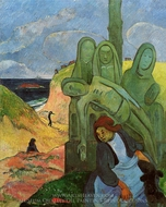 Green Christ (Breton Calvary) painting reproduction, Paul Gauguin