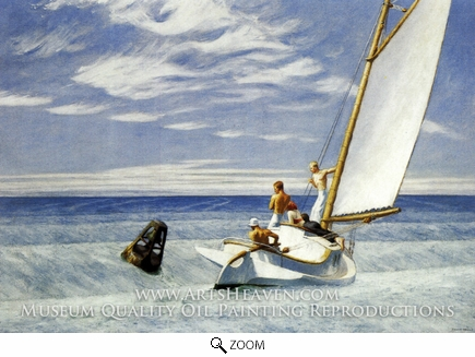 Painting Reproduction of Ground Swell, Edward Hopper