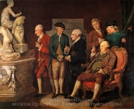 Group of Connoisseurs painting reproduction, Richard Cosway