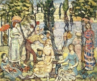 Group of Figures painting reproduction, Maurice Prendergast