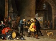 Guardroom with the Deliverance of Saint Peter painting reproduction, David Teniers, The Younger
