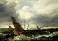 Guardship off the Nore painting reproduction, Clarkson Stanfield