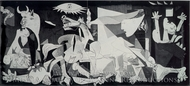 Guernica painting reproduction, Pablo Picasso (inspired by)