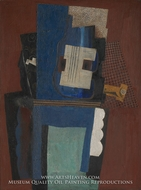 Guitar and Clarinet on a Mantelpiece by Pablo Picasso (inspired by)