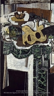 Guitar and Still Life on a Mantelpiece by Georges Braque