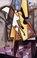 Guitar on a Chair painting reproduction, Juan Gris