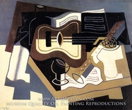 Guitar with Clarinet by Juan Gris
