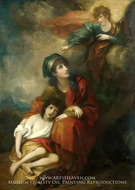 Hagar and Ishmael painting reproduction, Benjamin West