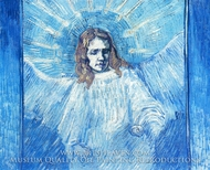 Half-Figure of an Angel (after Rembrandt) by Vincent Van Gogh