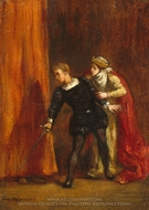 Hamlet and His Mother painting reproduction, Eugene Delacroix