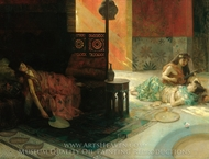 Harem Scene painting reproduction, Henry Siddons Mowbray