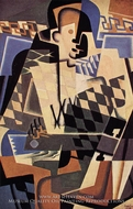 Harlequin with Guitar by Juan Gris