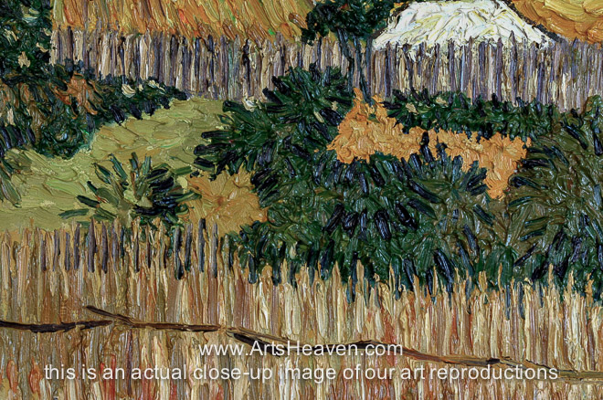 harvest at la crau Vincent van gogh: harvest at la crau, with montmaiour in the background oil painting reproduction vincent willem van gogh (30 march 1853 - 29 july 1890) was a dutch post-impressionist painter whose work had a far-reaching influence on 20th century art for its vivid colors and emotional impact.