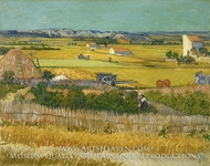 Harvest at La Crau by Vincent Van Gogh