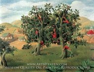 Harvesting the Fruits painting reproduction, Gheorghe Ciobanu