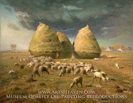 Haystacks, Autumn by Jean-Francois Millet