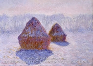 Haystacks (Effect of Snow and Sun) by Claude Monet