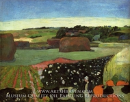 Haystacks in Britanny (The Potato Field) by Paul Gauguin