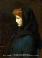 Head of a Girl painting reproduction, Jean-Jacques Henner