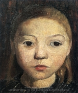 Head of a Girl painting reproduction, Paula Modersohn-Becker