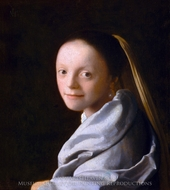 Head of a Girl (Portrait of a Young Woman) painting reproduction, Jan Vermeer