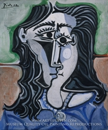 Head of a Woman by Pablo Picasso (inspired by)