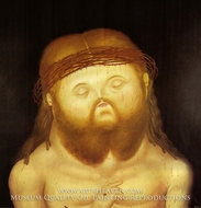 Head of Christ by Fernando Botero