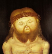 Head of Christ painting reproduction, Fernando Botero