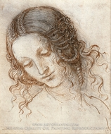 Head of Leda by Leonardo Da Vinci