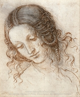 Head of Leda painting reproduction, Leonardo Da Vinci