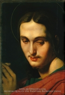 Head of Saint John the Evangelist by Jean Auguste Dominique Ingres