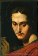 Head of Saint John the Evangelist painting reproduction, Jean Auguste Dominique Ingres