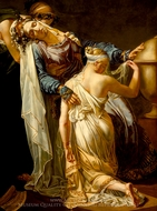 Hecuba and Polyxena painting reproduction, Merry-Joseph Blondel
