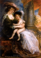Helena Fourment with her Eldest Son, Frans painting reproduction, Peter Paul Rubens
